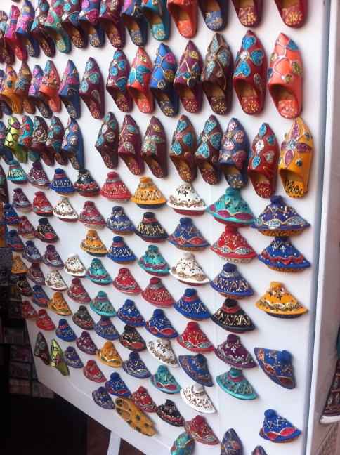 Tagine and Baboosh Refrigerator Magnets