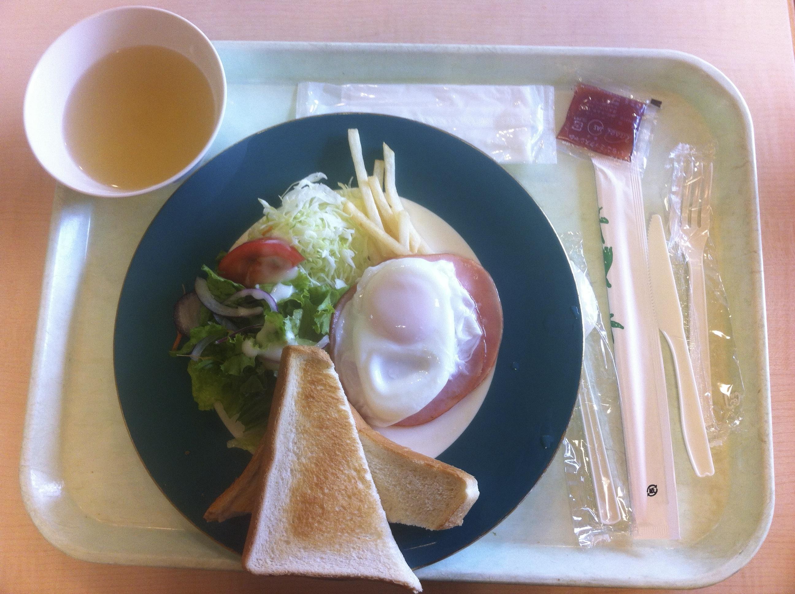 American Breakfast in Japan