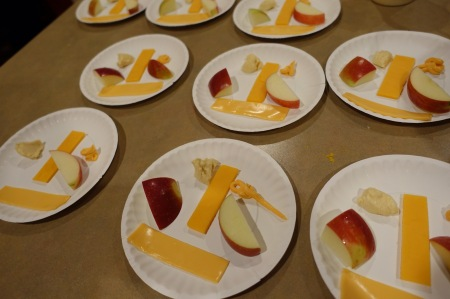 Different Cheeses and Apples